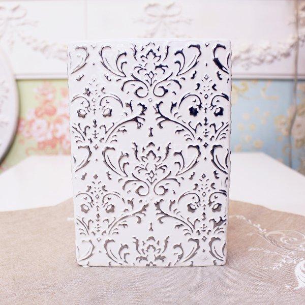 【入荷未定】 【フラワーベース】花器「precieux-プレシュー」(H21cm)ホワイト