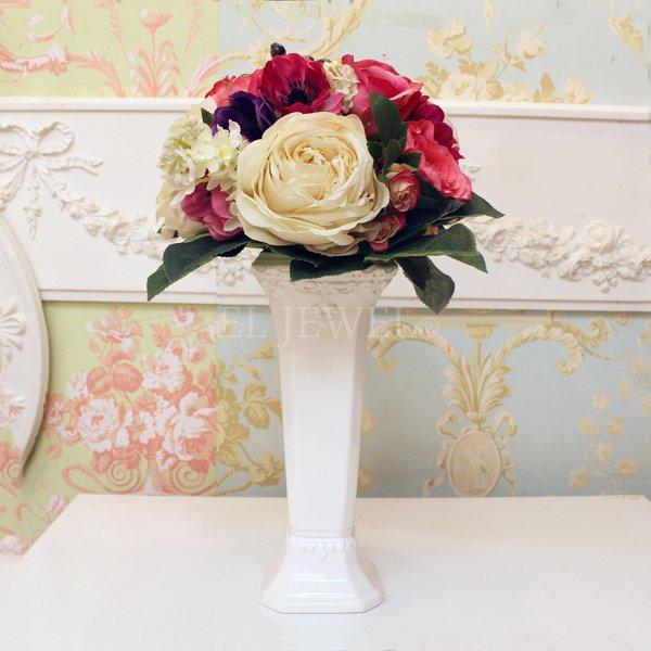 【入荷未定】 【フラワーベース】花器「Laurent-ローラン」(H26cm)ホワイト