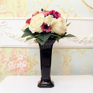 【フラワーベース】花器「Laurent-ローラン」(H26cm)ブラック