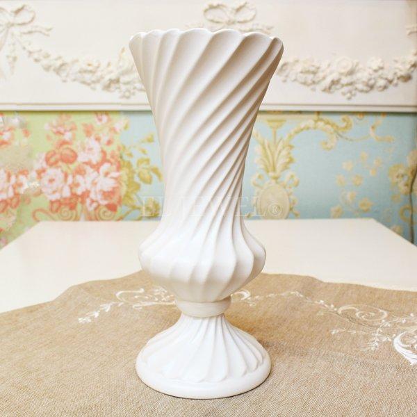 【即納可!】 【フラワーベース】花器「Spiral II-スパイラル」(H24cm)マットホワイト
