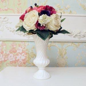 【即納可!】【フラワーベース】花器「Spiral II-スパイラル」(H24cm)マットホワイト