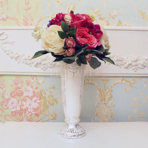 【即納可!】 【フラワーベース】花器「Victorian II-ヴィクトリアン」(L28cm)ペールホワイト