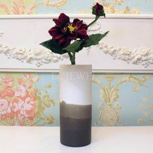 【フラワーベース】花器「Dip-ディップ」(H23cm)マットグレー