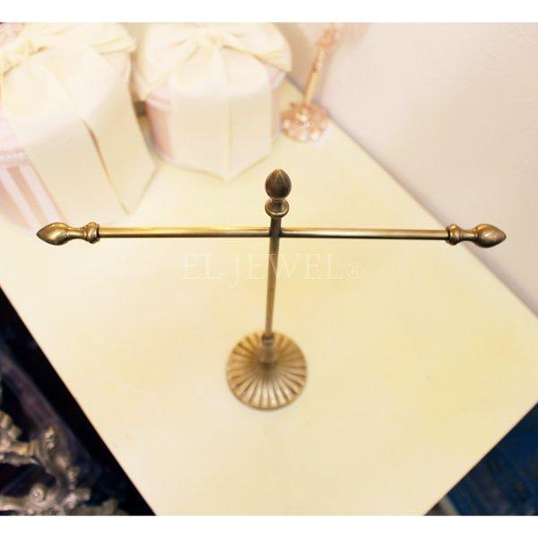 【即納可!】 真鍮製アクセサリークロスホルダー ゴールド(W28×H34cm)