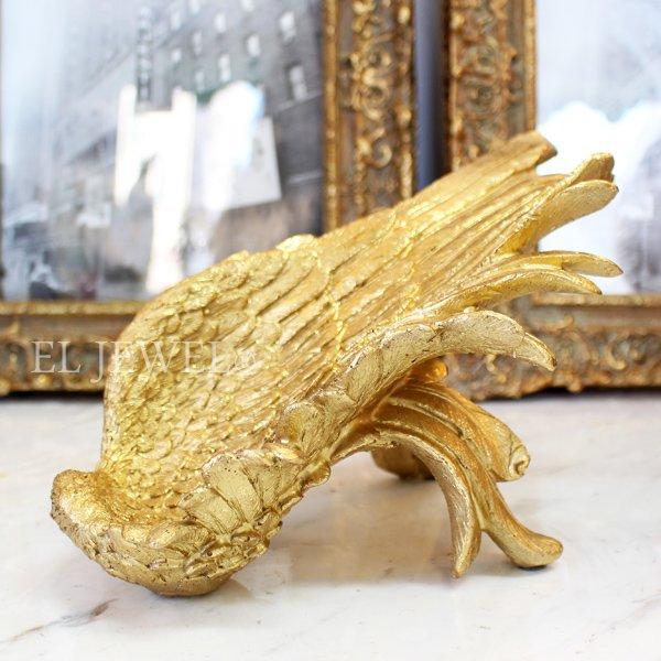 【入荷未定】 アンティーク調ウイングワインホルダー・ゴールド(H14.5cm)
