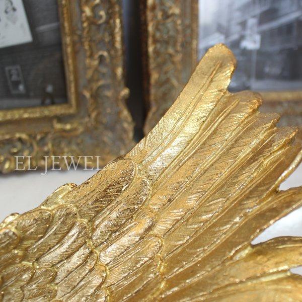 【即納可!】 アンティーク調ウイングワインホルダー・ゴールド(H14.5cm)