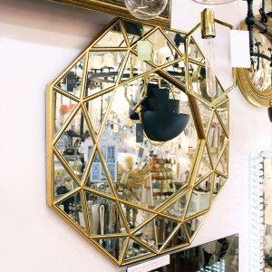 壁掛けダイヤモンド アート ミラー(W80cm)