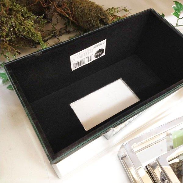 【完売】【フランス-Aulica-】キラキラ♪ティッシュBOX・ミラー×ビジュー(26×14×11.5×cm)