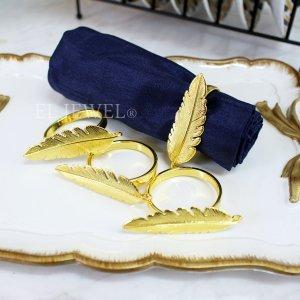 【即納可!】【フランス-Aulica-】ウィング型ナプキンリング・ゴールド4個セット