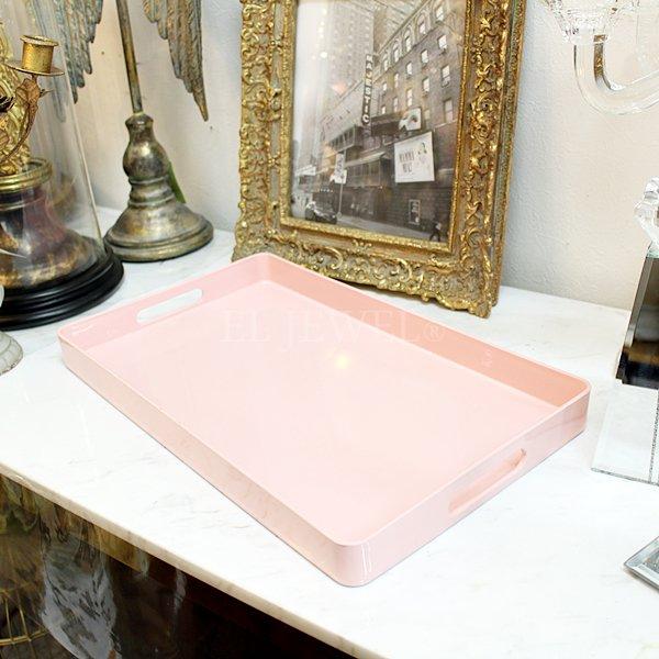 【即納可!】【フランス-Aulica-】ピンクトレイ(W39.5×D24×H3.5cm)