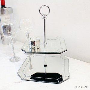 【7月下旬入荷予定】【フランス-Aulica-】ガラスケーキプレート2段