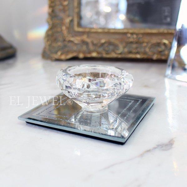 【完売】 【フランス-Aulica-】キラキラ☆ガラスキャンドルホルダー(W9cm)
