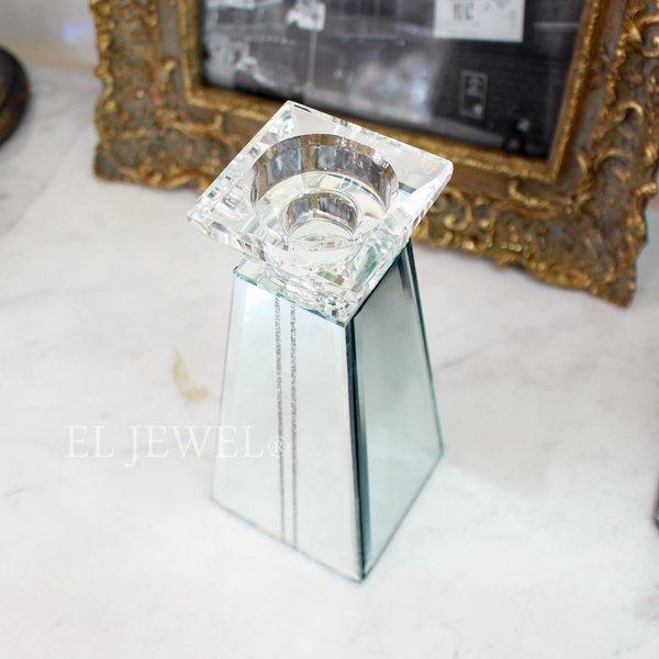 【完売】 【フランス-Aulica-】キラキラ☆ガラスキャンドルホルダー(H19cm)