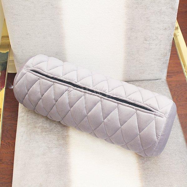 ラウンジ・ソファ ボルスタークッション(グレー)(Φ18.5×W53cm)