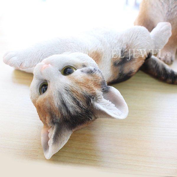 【即納可!】子猫のオブジェ♪ゴローン・ミケ(17.5×21×H7cm)