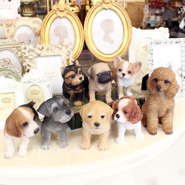【即納可!】子犬のオブジェ♪キャバリア(8×16×H12cm)