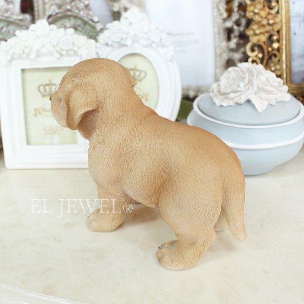 【即納可!】子犬のオブジェ♪ラブラドール(8×16×H12.5cm)