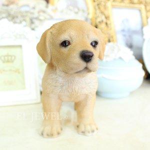 子犬のオブジェ♪ラブラドール(8×16×H12.5cm)