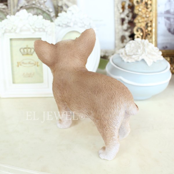 【即納可!】子犬のオブジェ♪チワワ(8×15×H13cm)