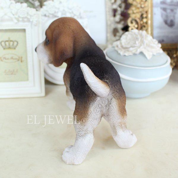 【入荷未定】 子犬のオブジェ♪ビーグル(9×15×H13cm)