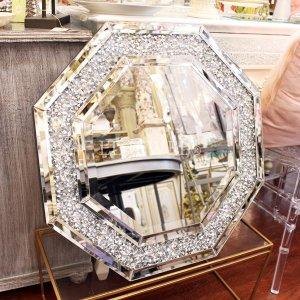 キラキラ☆クリスタル・八角ミラー(W59×H59cm)ダイヤ
