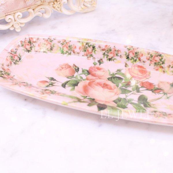【即納可!】ガーデンローズミニトレー4個set(18×7.5cm)