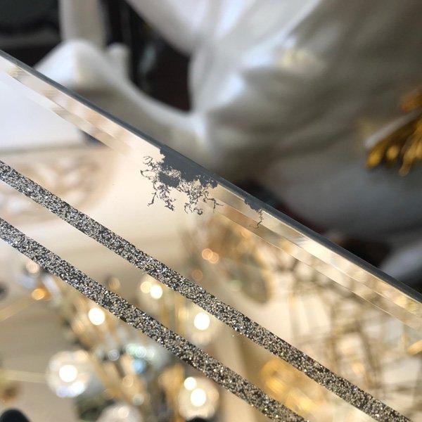 【即納可!】※訳あり品【フランス-Aulica-】キラキラ♪取っ手付きミラートレー(40×30cm)