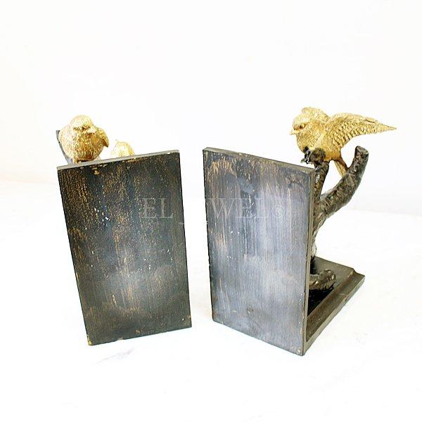 【即納可!】【Dutch Style-オランダ】アンティーク調ブックエンド・バード(17.5×18×9.5 cm)