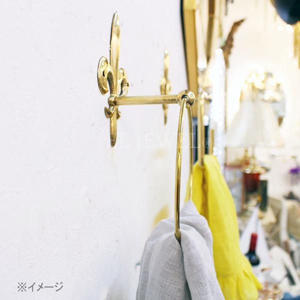 【即納可!】【Q&Q-スペイン】タオルリング「百合の紋章」ゴールド(10×14 16 cm)