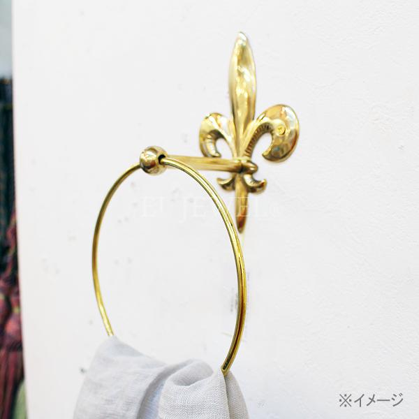 【即納可!】【Q&Q-スペイン】タオルリング「リボン」シルバー(17×9 21 cm)
