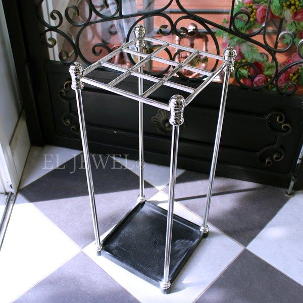 【即納可!】【Q&Q-スペイン】ホテルライクな傘立て・シルバー(H62cm)