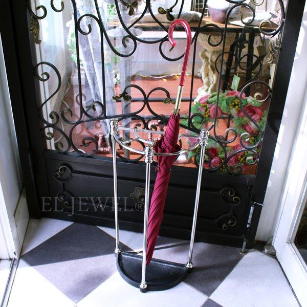 【Q&Q-スペイン】ホテルライクな傘立て・シルバー(H61.5cm)