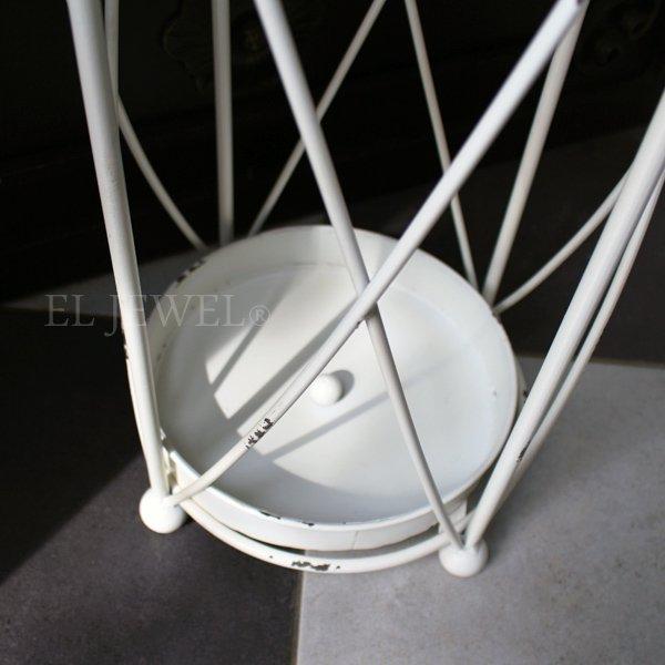 【即納可!】【Q&Q-スペイン】傘立て・アンティークホワイト(φ32×H55cm)