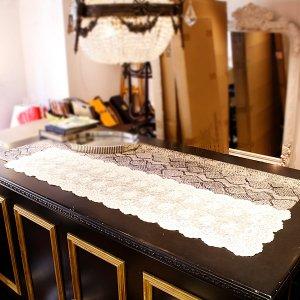 「テーブル ドゥフルール」レース・テーブルセンター(42×150cm)