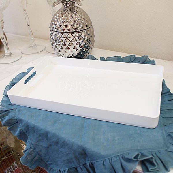 【即納可!】【フランス-Aulica-】ホワイトトレイ(W40×D24cm)