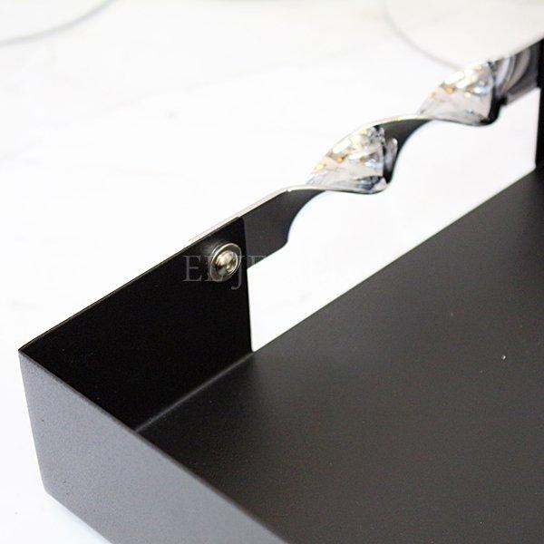 【即納可!】【フランス-Aulica-】ブラックトレイ(38×28cm)