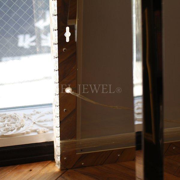 【入荷未定】 キラキラLIGHT♪LED照明付き女優ミラー姿見♪(W100×H180cm)