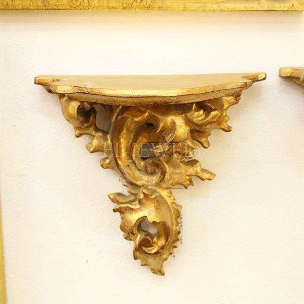 【即納可!】アンティーク調・壁掛けコンソール・ゴールド(W19.5×H17.7cm)B
