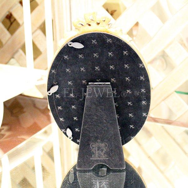アンティーク調オーバルフォトフレーム・リボン L(W14.3×H21.3cm)