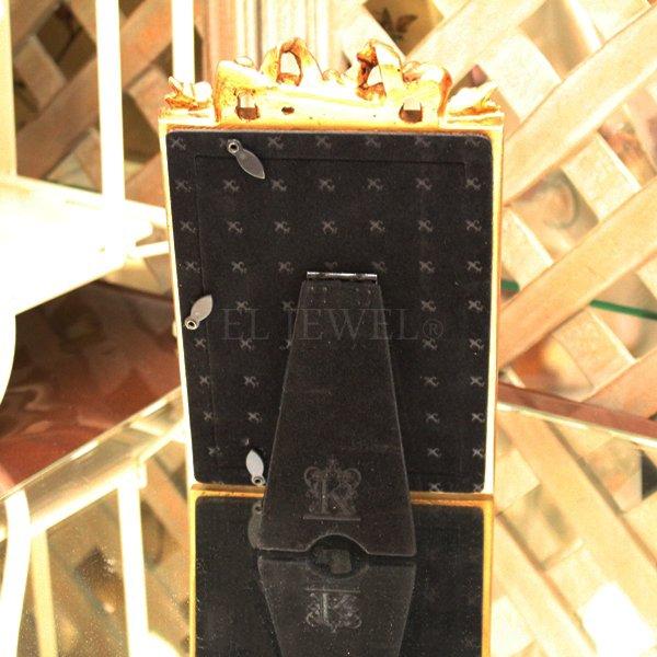 【即納可!】アンティーク調フォトフレームリボン・ゴールド(W13.6×H21.4cm)