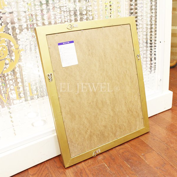 【入荷未定】ロココ調ウォールミラーゴールド(47×57cm)