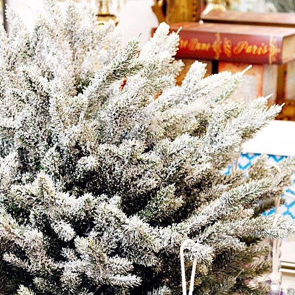 【即納可!】北欧風フロストバスケット・クリスマスツリー(H120cm)