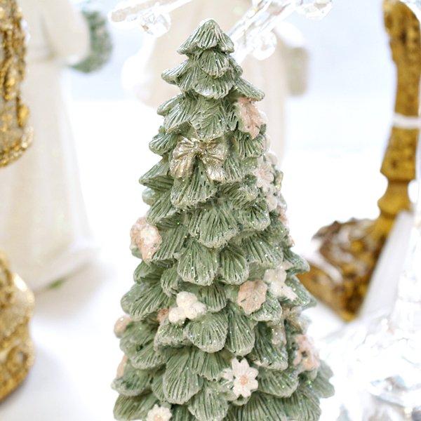 【即納可!】クリスマス♪パステルミニツリーオブジェ(H15.5cm)