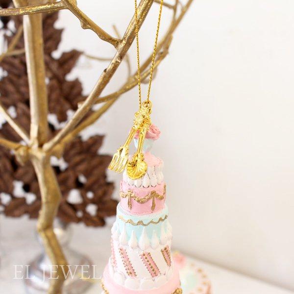 クリスマス♪ローズケーキタワーオーナメント(H18cm)