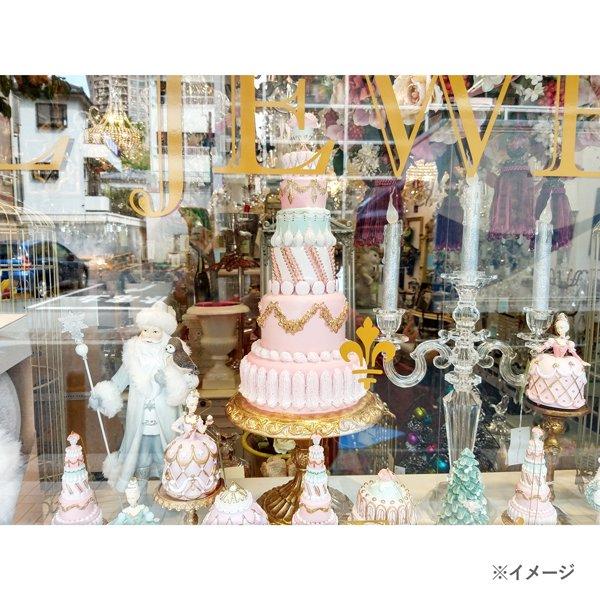 【完売】クリスマス♪ローズケーキツリーオブジェ(H59cm)