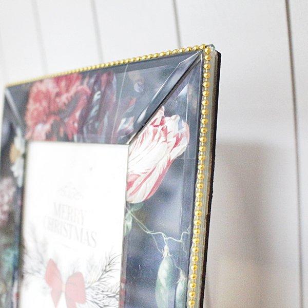 【即納可!】フラワーデコガラスフレーム(H21.5cm)