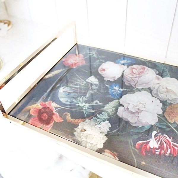 【即納可!】フラワーデコガラストレイ(W35cm)