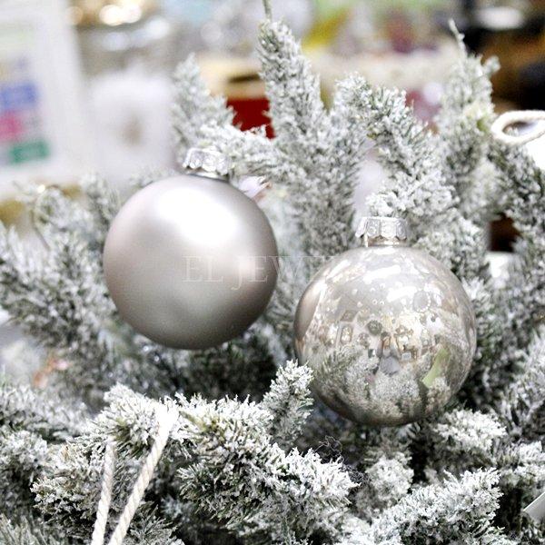 【即納可!】クリスマス☆デコレーションボールセット・2種8個セット(Φ7cm)