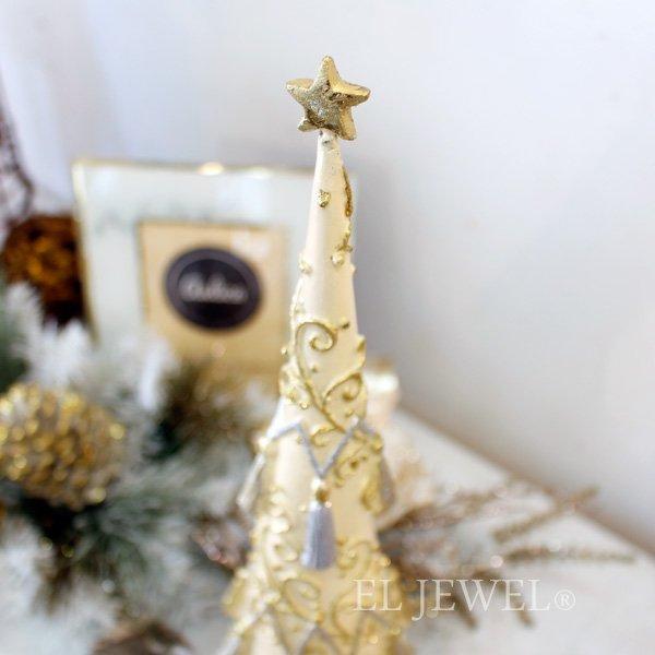 【即納可!】クリスマスアイテム♪タッセルツリー・アイボリー(H44cm)