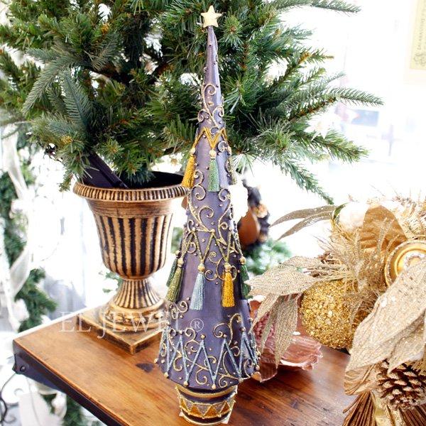 【即納可!】クリスマスアイテム♪タッセルツリー・ブルー(H44cm)